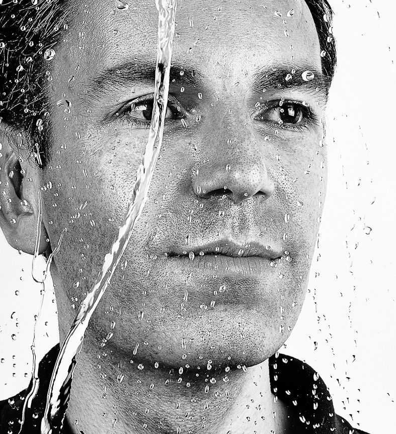 Creative Portrait Black And White Photography Using Water