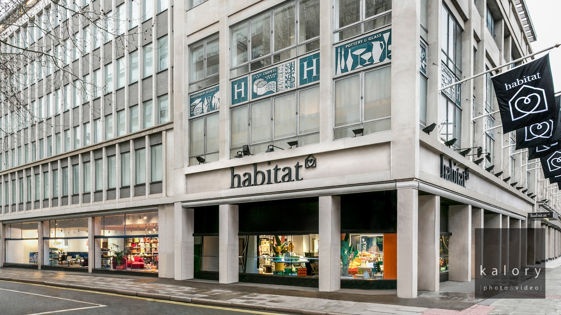Interior photography of the new habitat flagship store on tottenham court road in london for Furniture tottenham court road