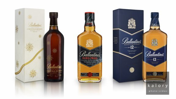 Ballantine's Whisky Bottle Packshots