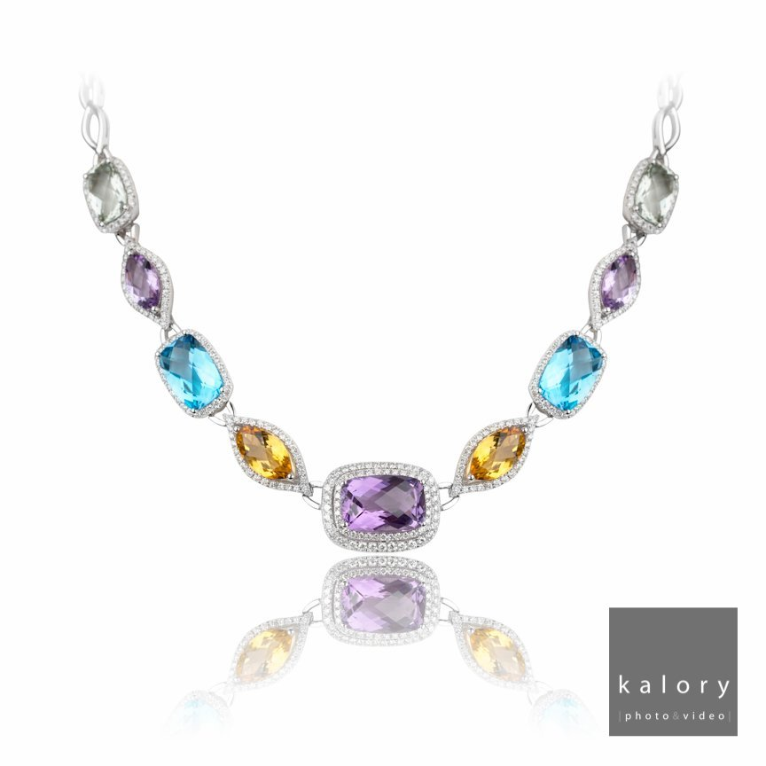 colour stone necklace shot with 5D Mark III