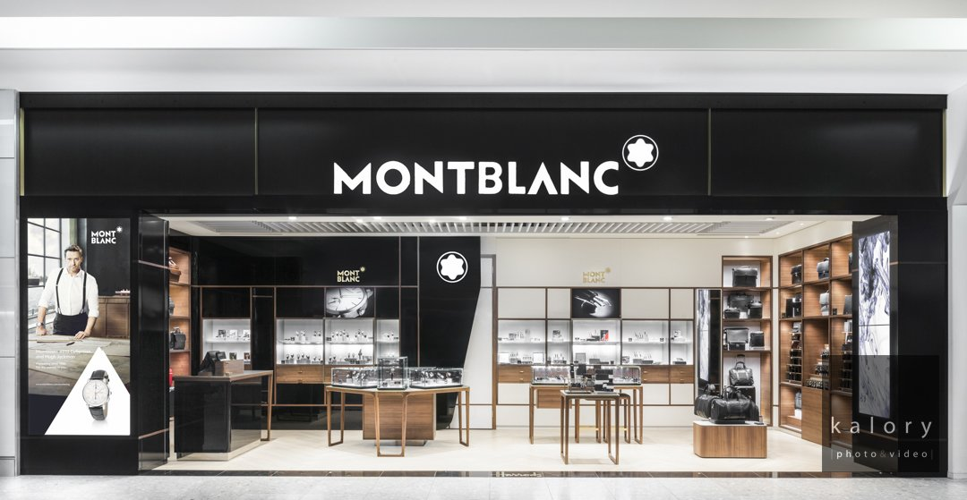 Duty free interior photo shoot for Montblanc