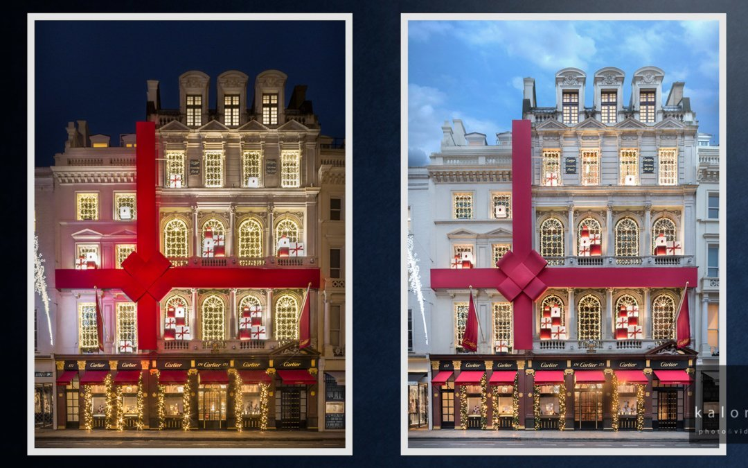 Photographs of the Christmas windows at Cartier Bond street