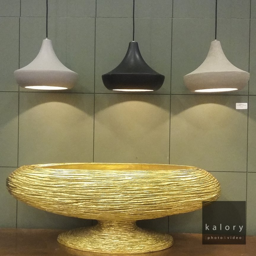 Gold Vase and lighting