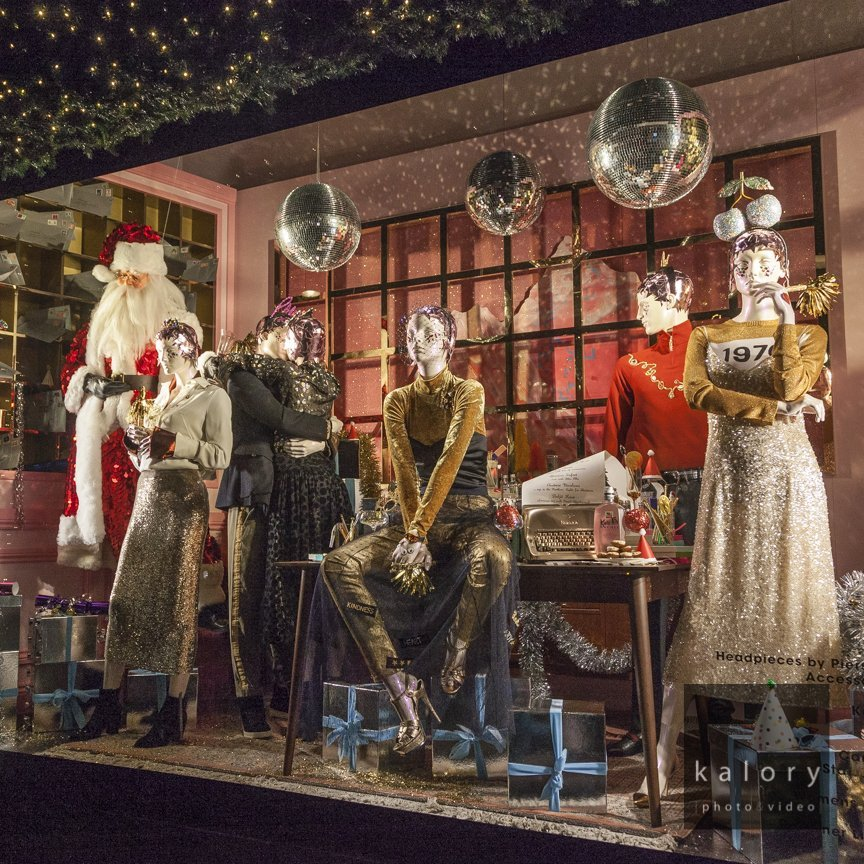 London photographer of stores and window display for christmas