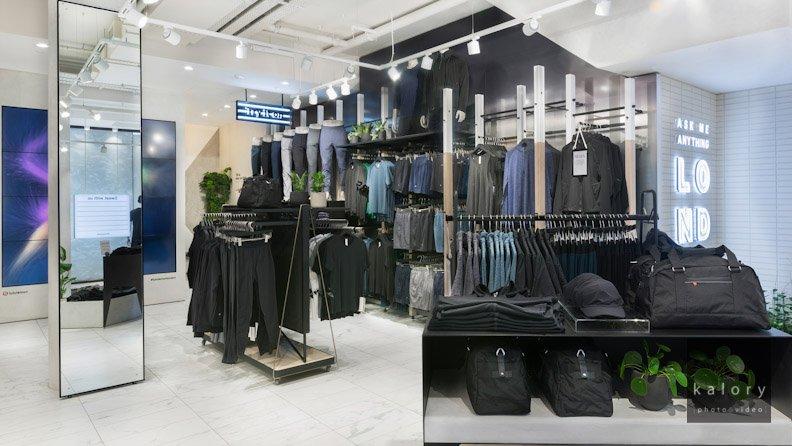 retail interiors photography for lulu lemon