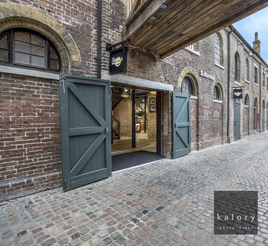 architectural exterior shot camden market North London