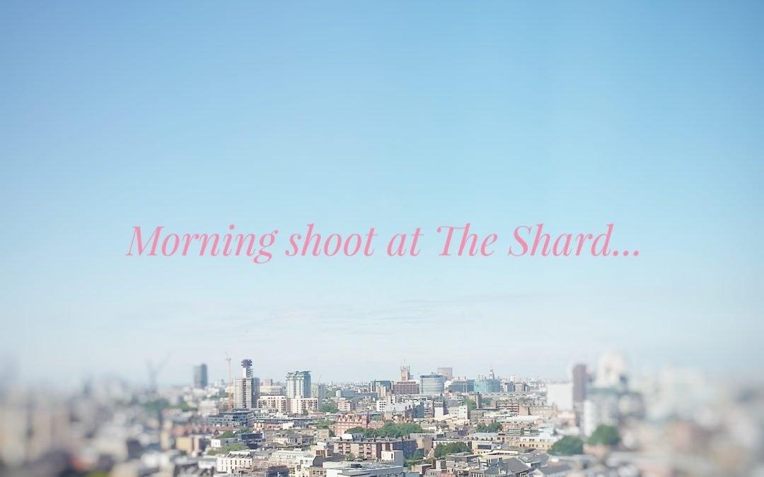 Shoot at the shard SE1 London