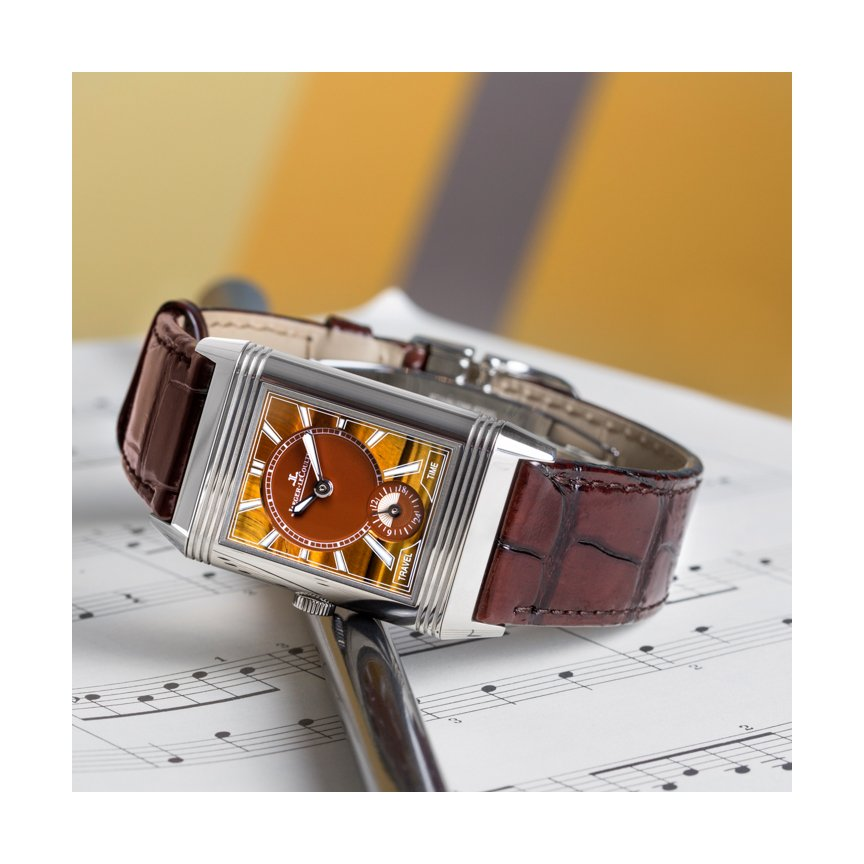 still life picture of jaeger lecoultre reverso