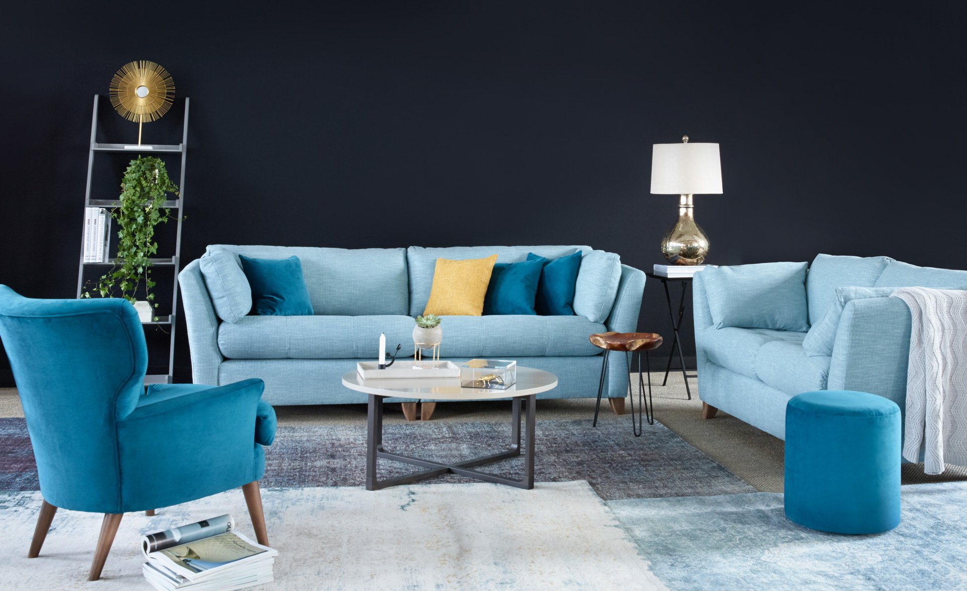 staged styled photography for sofa and furniture brands