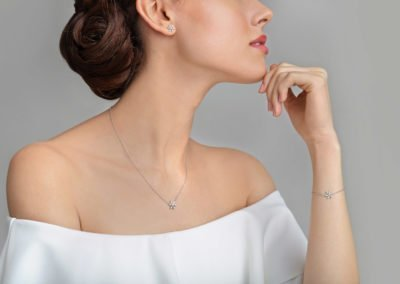 Jewelry model photography for Pravins jewellers