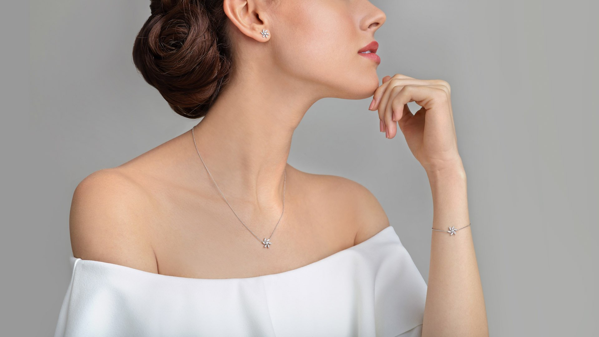 Jewellery model photography for Pravins jewellers
