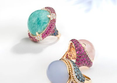 Coloured stone jewelry photographer
