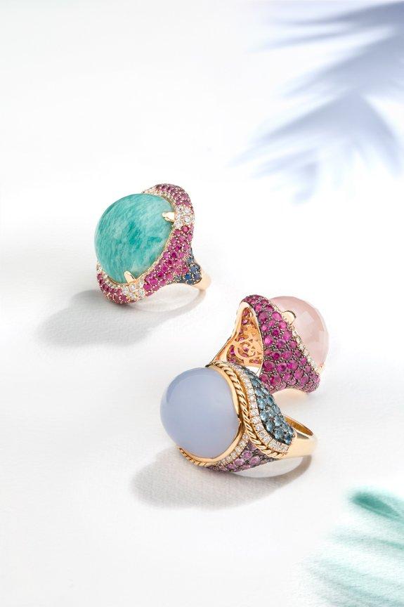 Coloured stone jewelry photographer