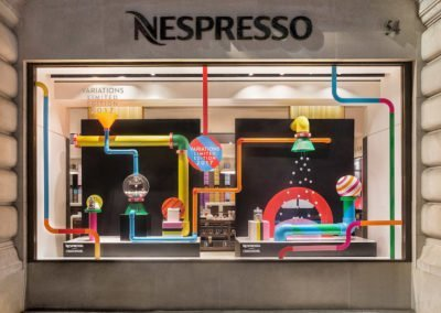 Nespresso Visual merchandising on Regent street 2017