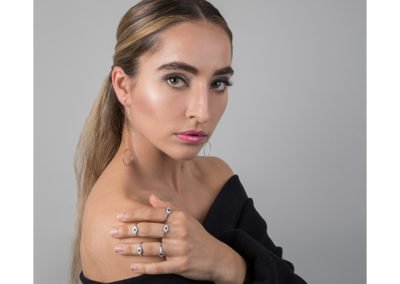 model shoot in central london studio for jewellery brand nikuma