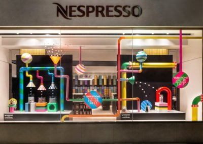window display of nespresso for Christmas 2017