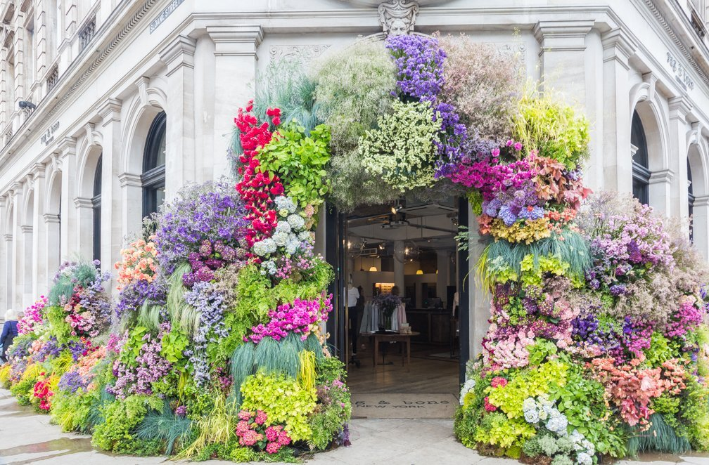 32 pictures of visual merchandising and window displays inspired by the 2018 RHS Chelsea Flower Show