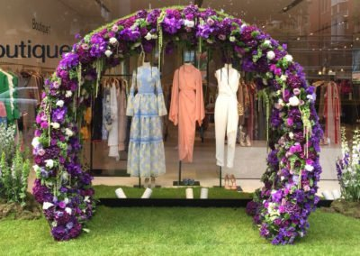 Shooting Store displays for chelsea flower show