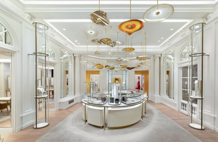 Interior Photography of the new Cartier Temple on New Bond Street