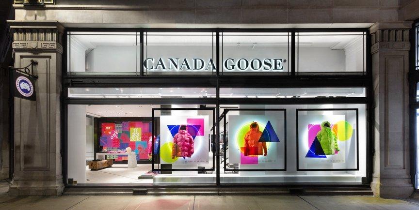 Canada goose regent street window photography