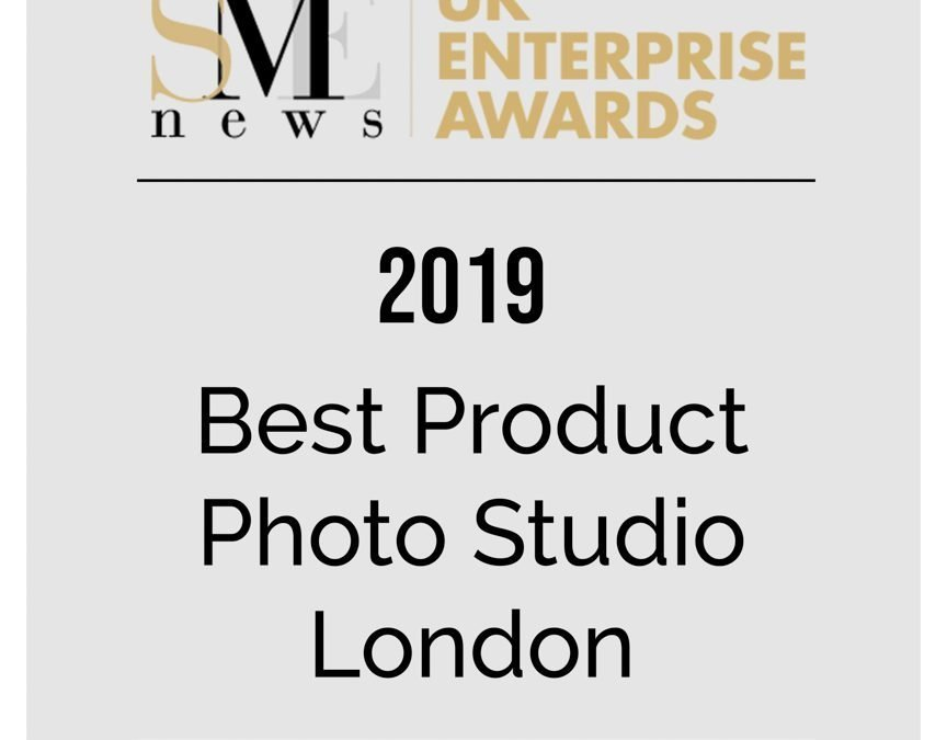 "Kalory Photo & Video wins ""Best Product Photo Studio 2019 – London"" in the 2019 UK Enterprise Awards"