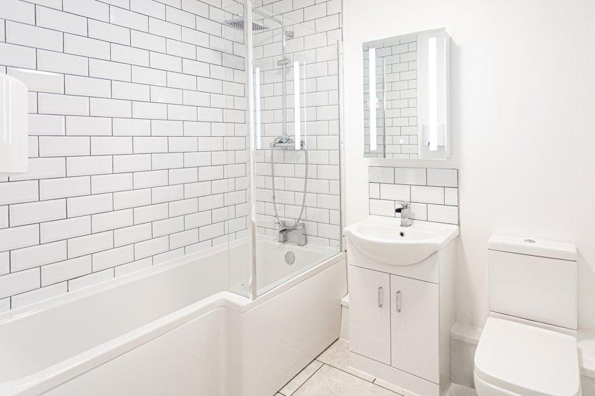Bathroom set for beauty brand photography