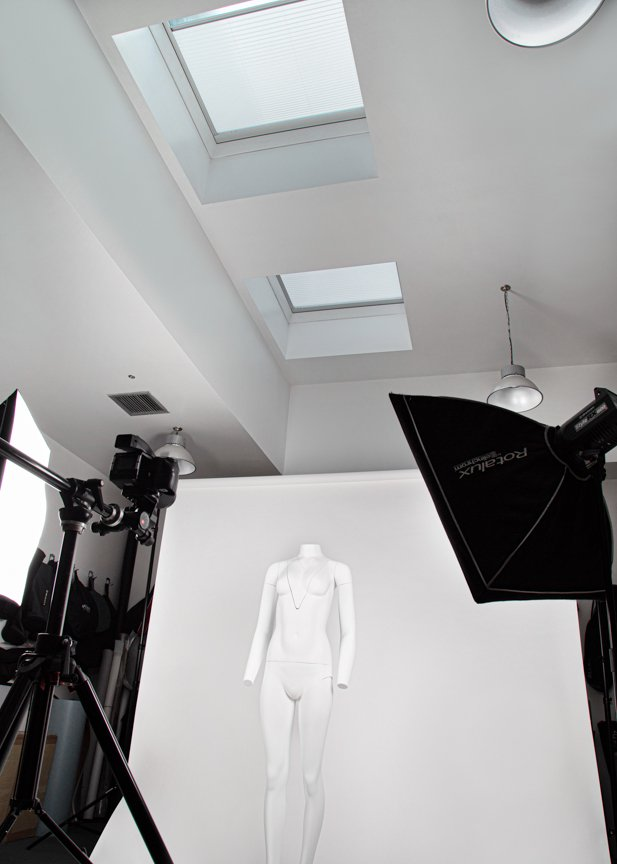 Large photo studio with high ceiling