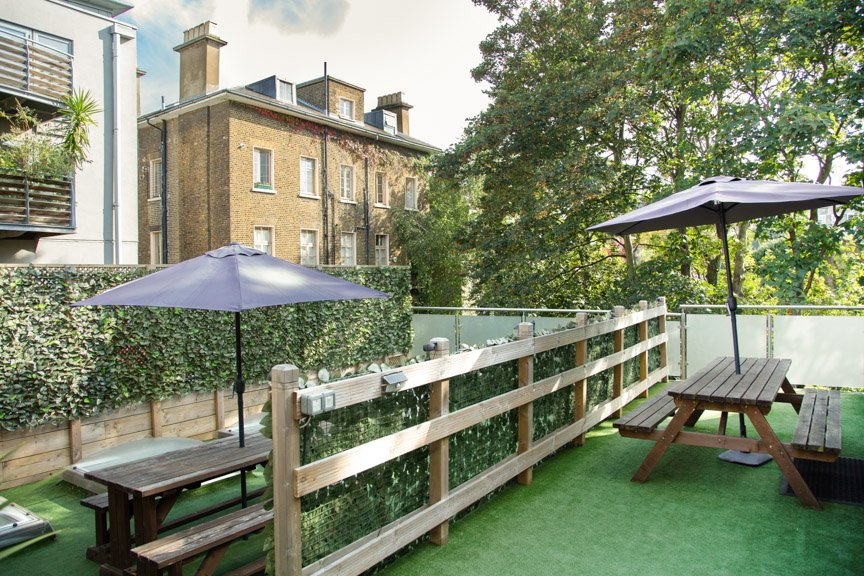 Outdoor roof tp terrace for lifestyle photography